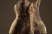 Corset - Paper Art with plants, Hay & Straw